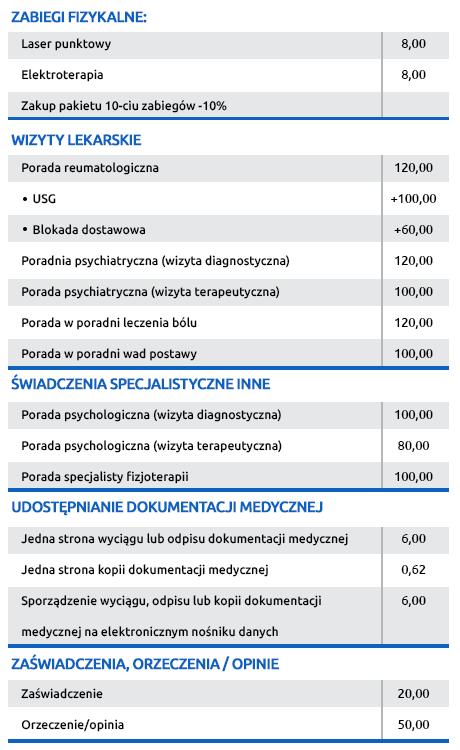 euro-med-katowice-cennik